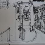 Pen sketches in Mallorca, Spain