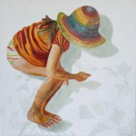 Sifting Shadow, Ana De Vlieg, 2012, Oil on canvas, 100 x 100cm