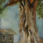 Dancing Tree, 2013, Oil on linen on board, 30x15cm