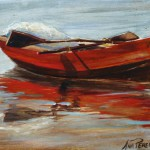 Red Bilene Boat, 2012, Oil on Canvas
