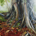Finding Ground, 2013, Oil on board, 40x60cm