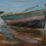 Weathered Old Boat, 2013, Oil on Canvas, 15 x 21cm