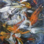 Koi Abstract, 2012, Oil on Canvas,