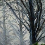 Magic Mist of Trees, 2013, Oil on board, 30x42cm
