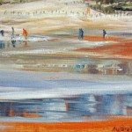 People on the beach, 2012, Oil on Canvas, 21x30cm