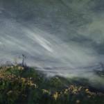 Lighting the Landscape, 2013, Oil and Gold Leaf on board, 10x15cm