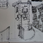 Pen sketches in Mallorca, Spain